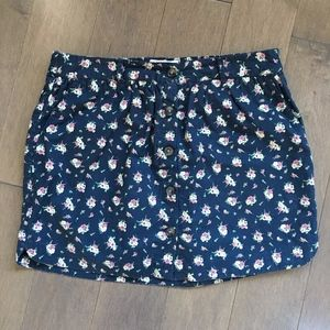 Jack Wills Button Up Floral Mini Skirt